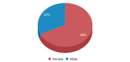 This chart display gender of Arthur A. Benjamin Health Professions High School