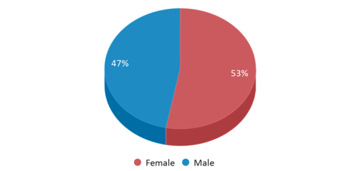 This chart display gender of Vista Real Charter High School