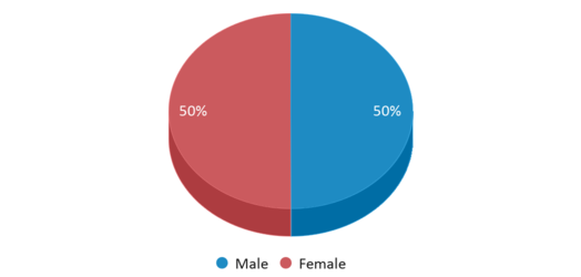 This chart display gender of Pinecrest Cove Academy