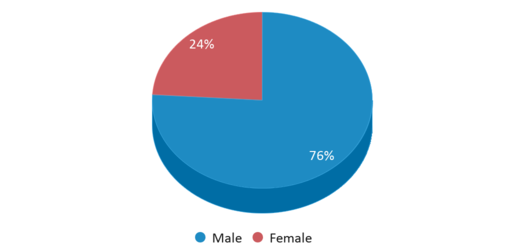 This chart display gender of Riverside Academy