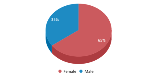 This chart display gender of Fort Supply High School