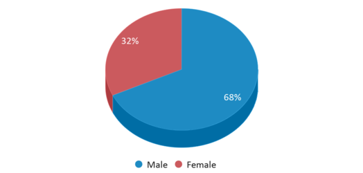 This chart display gender of Whaling City Junior/senior High School