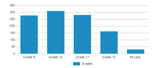 This chart display the students of Vista Real Charter High School by grade.