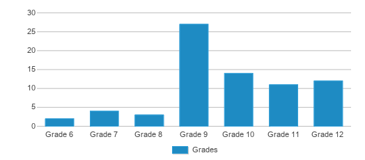 This chart display the students of Brandywine Innovation Academy by grade.