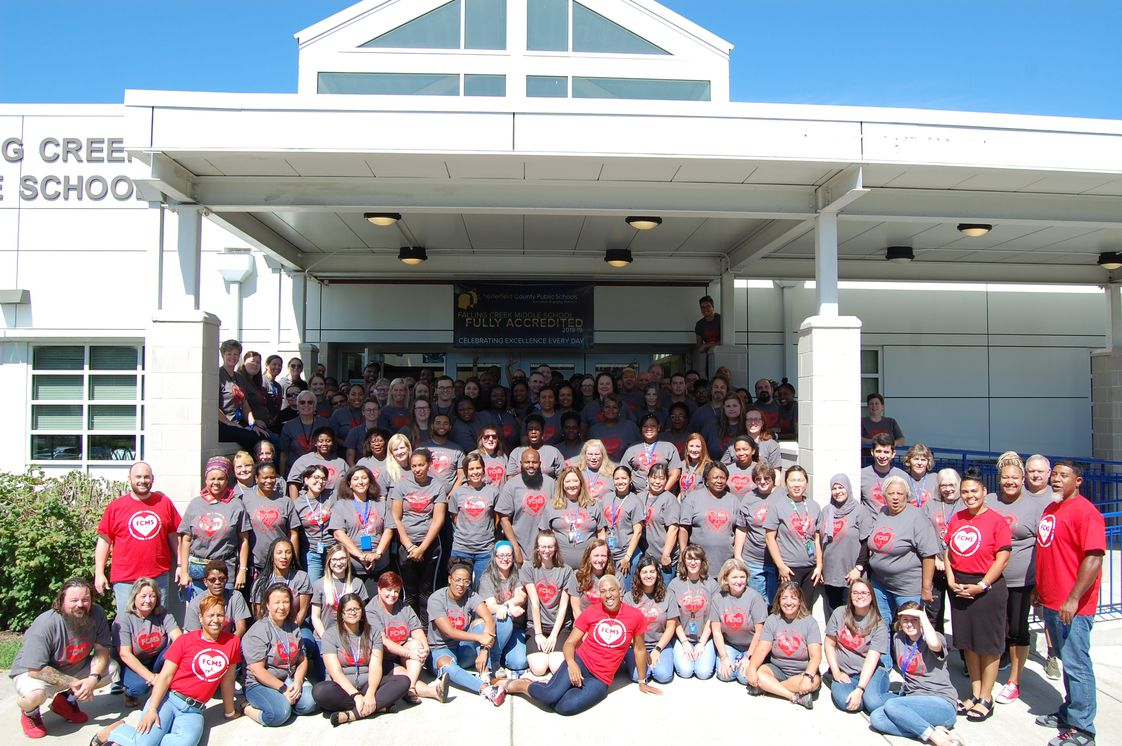 Falling Creek Middle School Photo #1 - Yes, we are fully accredited. Panther Strong! OneTeam,OneDream!